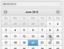 jQuery Mobile Themed DatePicker Download