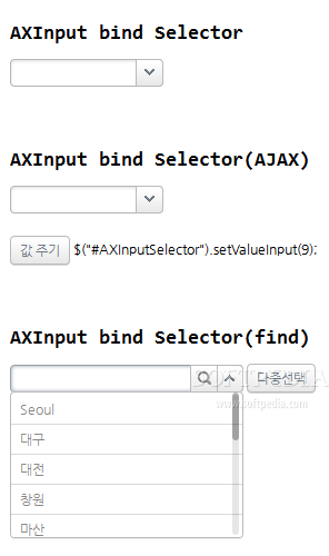 AXISJ - Drop-down select elements have a much more appealing style