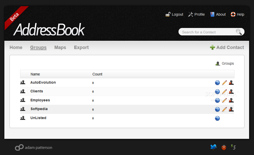 AddressBook screenshot 4