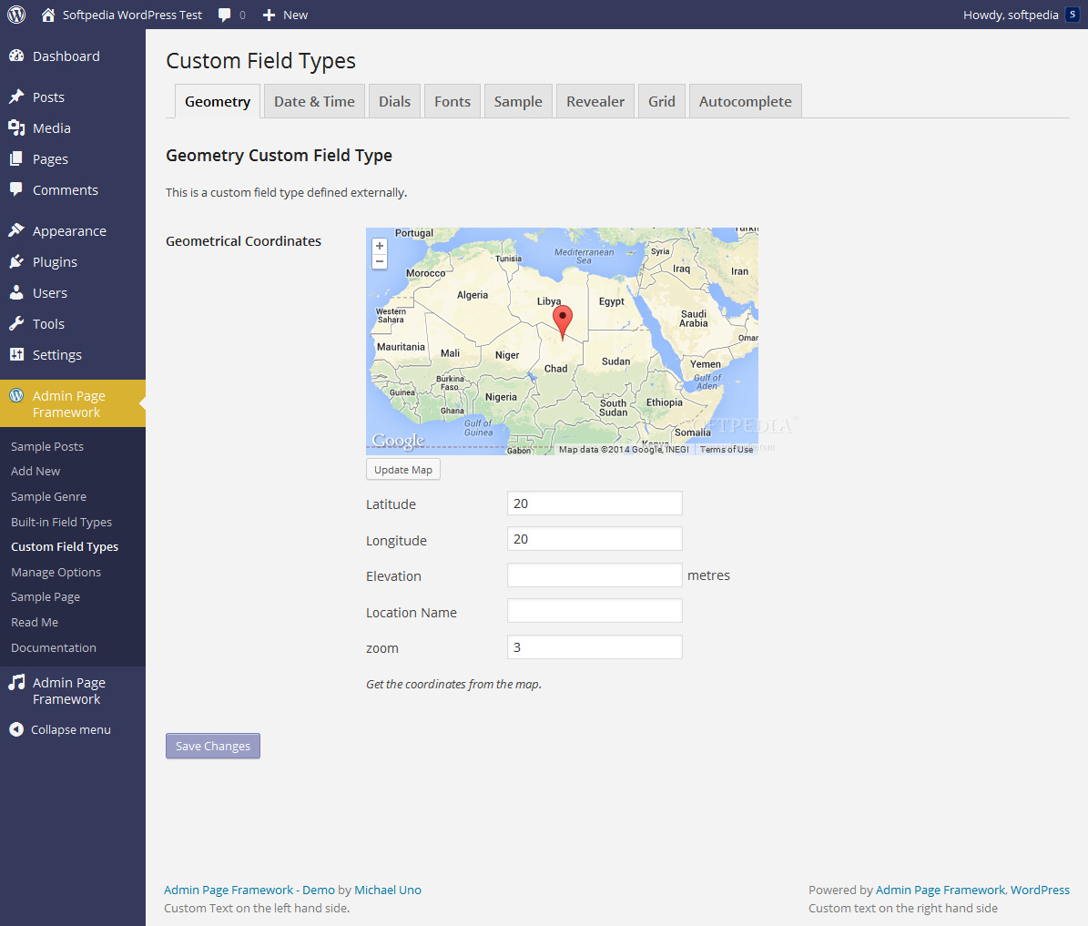 Admin Page Framework - Customized field types and various layout options are also supported