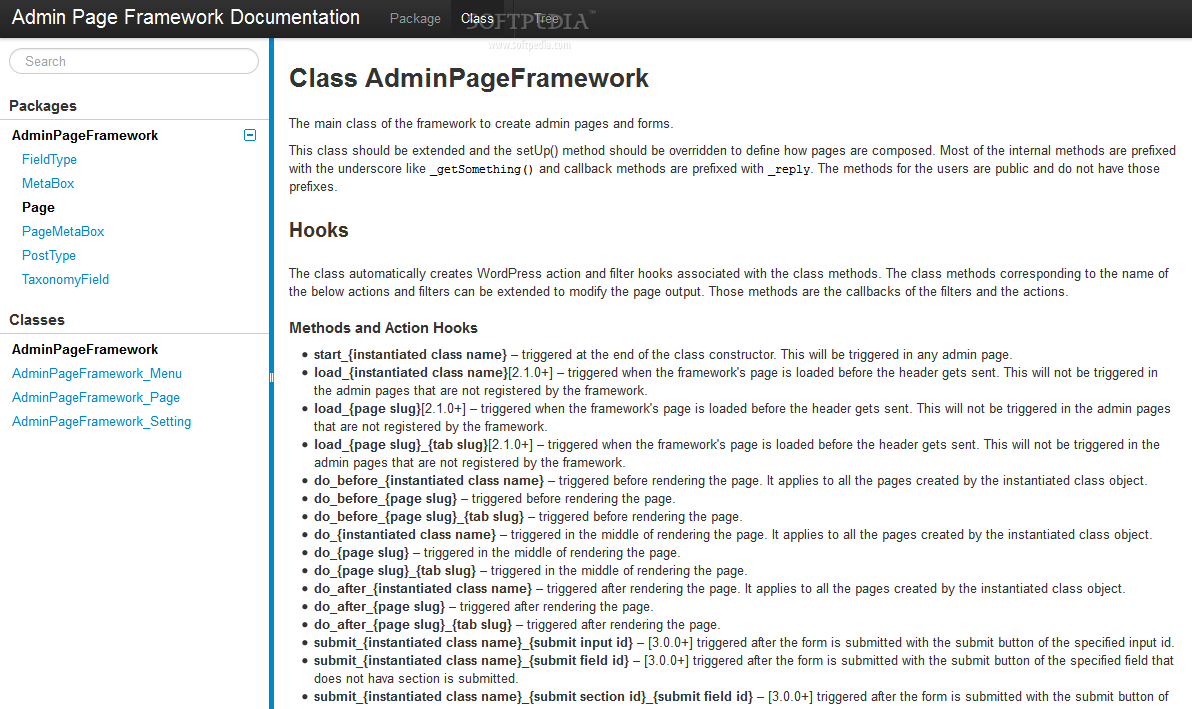 Admin Page Framework - The plugin comes with lots of documentation, integrated in the WP backend