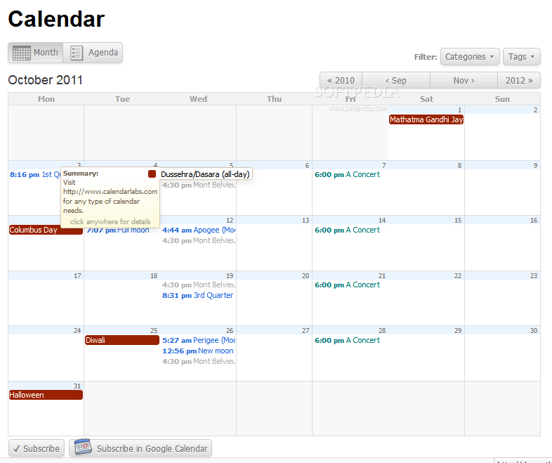 All-in-One Event Calendar screenshot 1