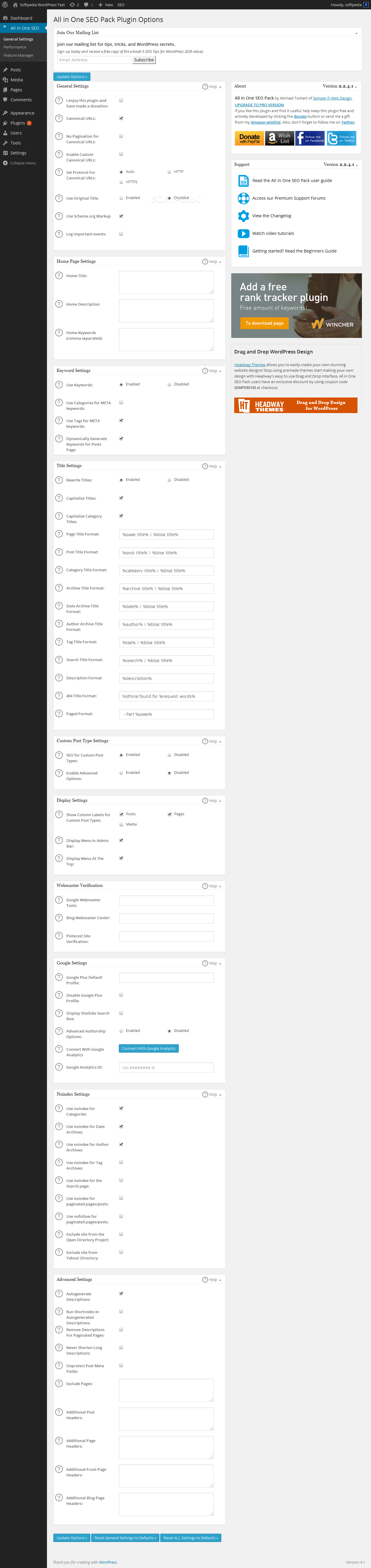 All in One SEO Pack - screenshot #1