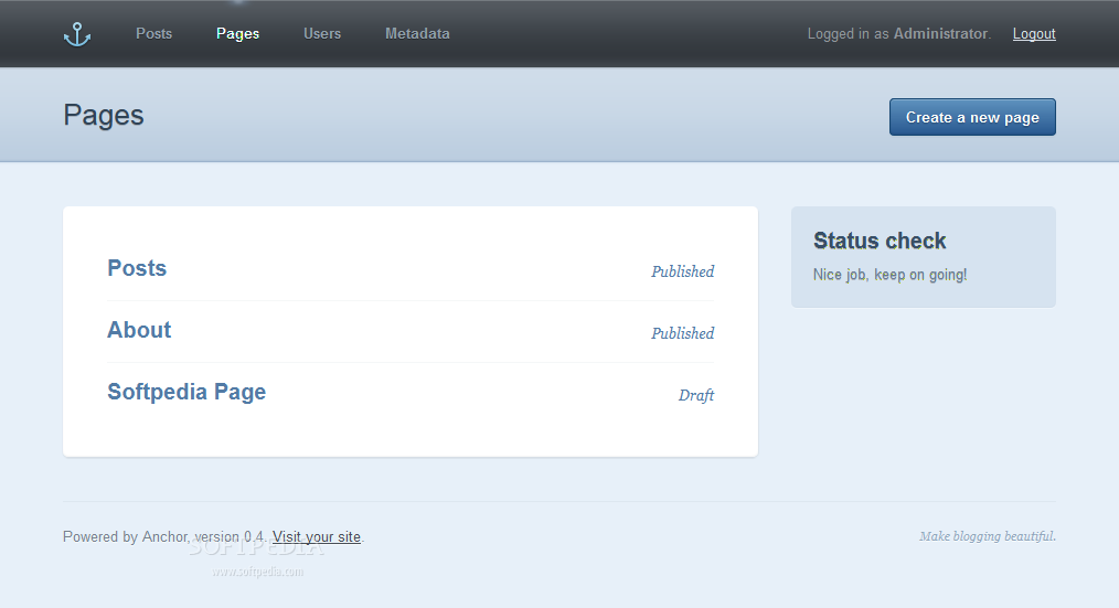 Anchor CMS screenshot 5