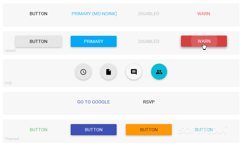 Angular Material Design - Angular Material Design comes packed with lots of useful UI components