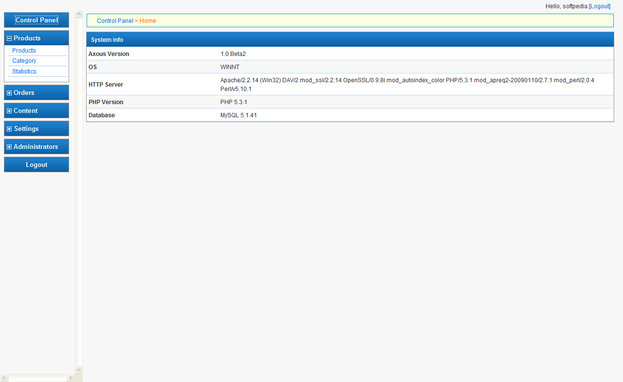 Axous Software Shop screenshot 2