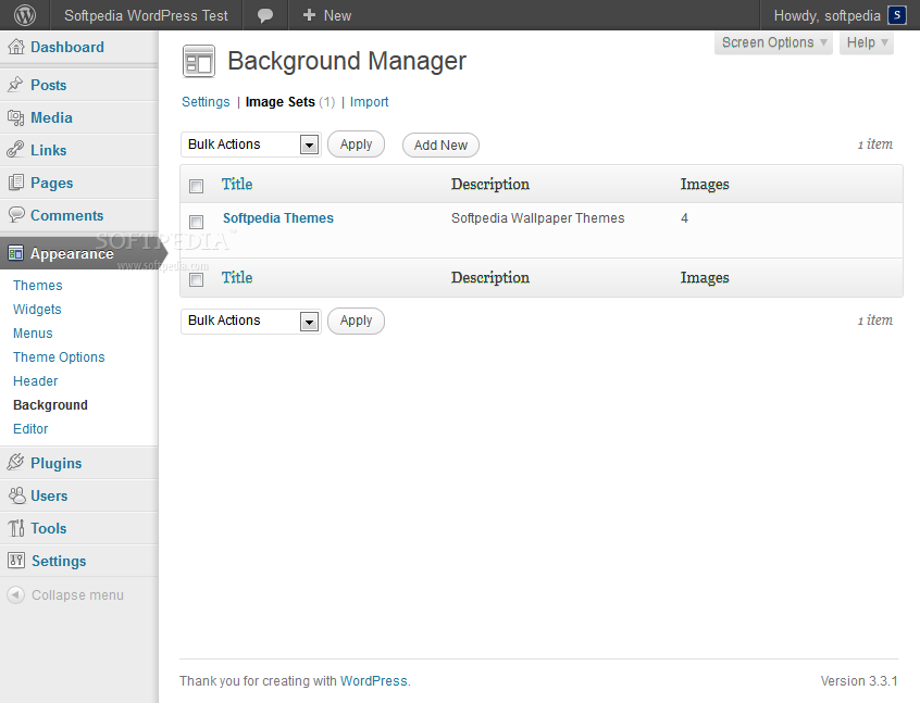 Background Manager screenshot 2