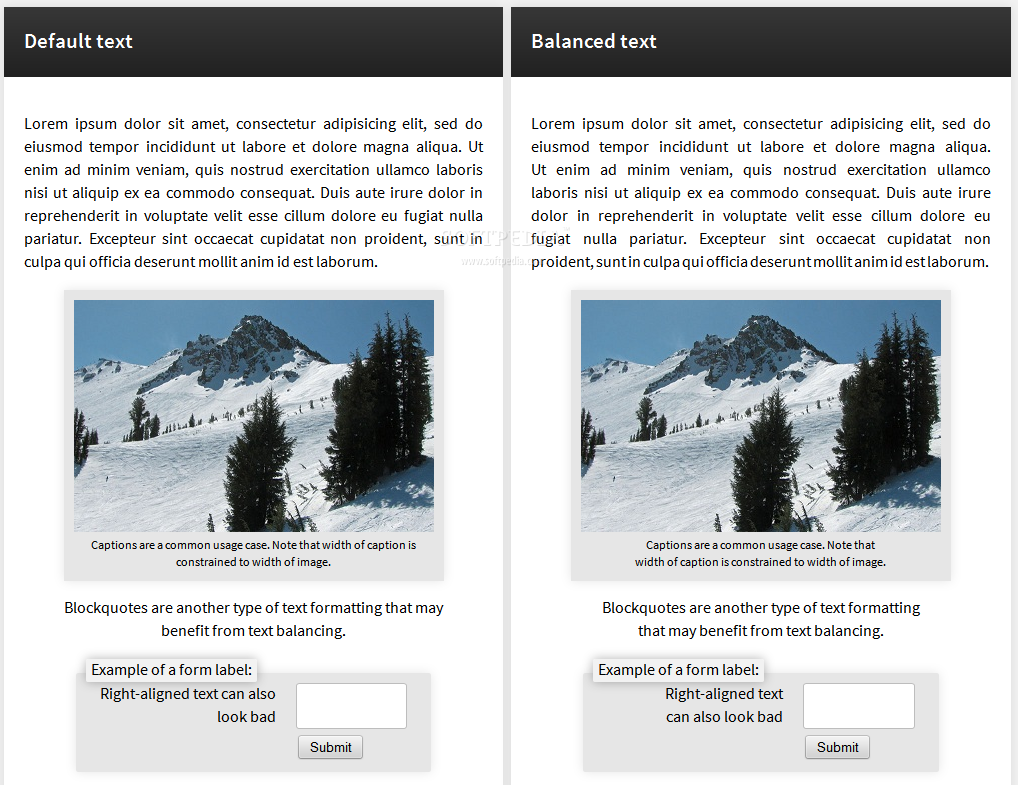 BalanceText - BalanceText will equalize the amount of words displayed on each row of text