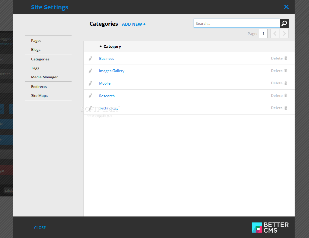 Better CMS - Content can be organized in categories and tags