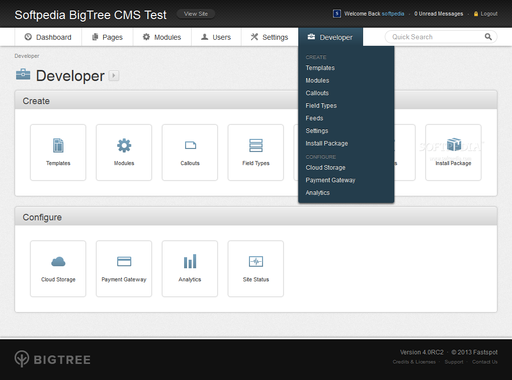 BigTree CMS - More developer tools are provided for fine-tuning the BigTree CMS