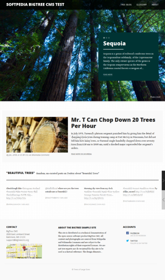 BigTree CMS - Default BigTree CMS theme, included with the download package