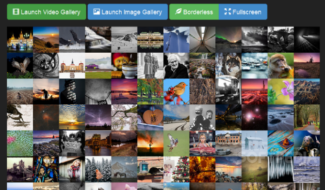 Bootstrap Image Gallery - Bootstrap Image Gallery can be used to show a wall of small thumbnails