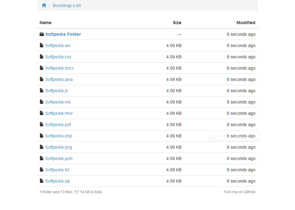 Bootstrap Listr - Bootstrap Listr can beautify server file indexes with a Bootstrap-based UI