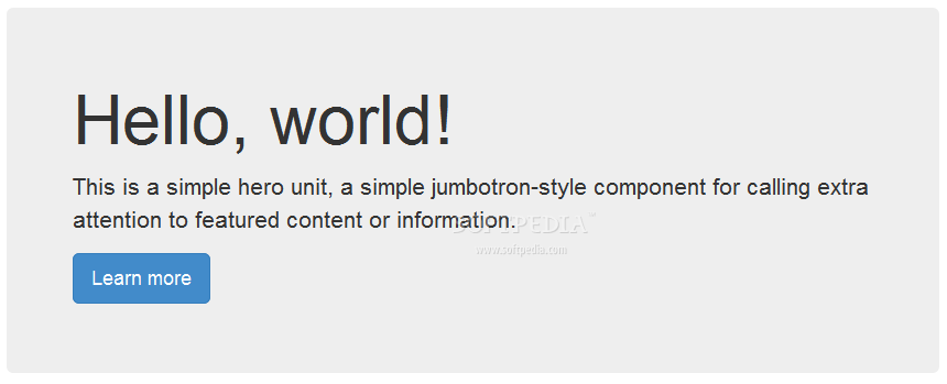 Bootstrap - Jumbotron page headers, specific to the Bootstrap framework, are great for highlighting special content