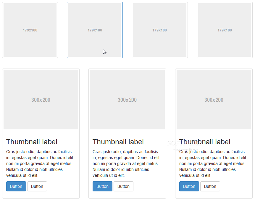 Bootstrap - Special layouts for displaying images and thumbnailed photos are also available