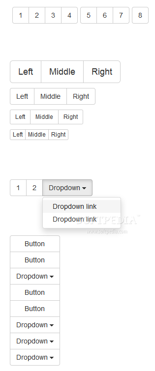 Bootstrap - Button groups are also supported with Bootstrap