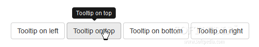 Bootstrap for Sass - Tooltips can be added to various elements via Bootstrap for Sass