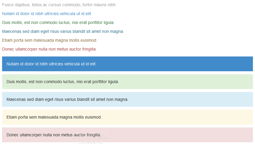 Bootstrap for Sass - Text and color highlighting features are included with Bootstrap for Sass