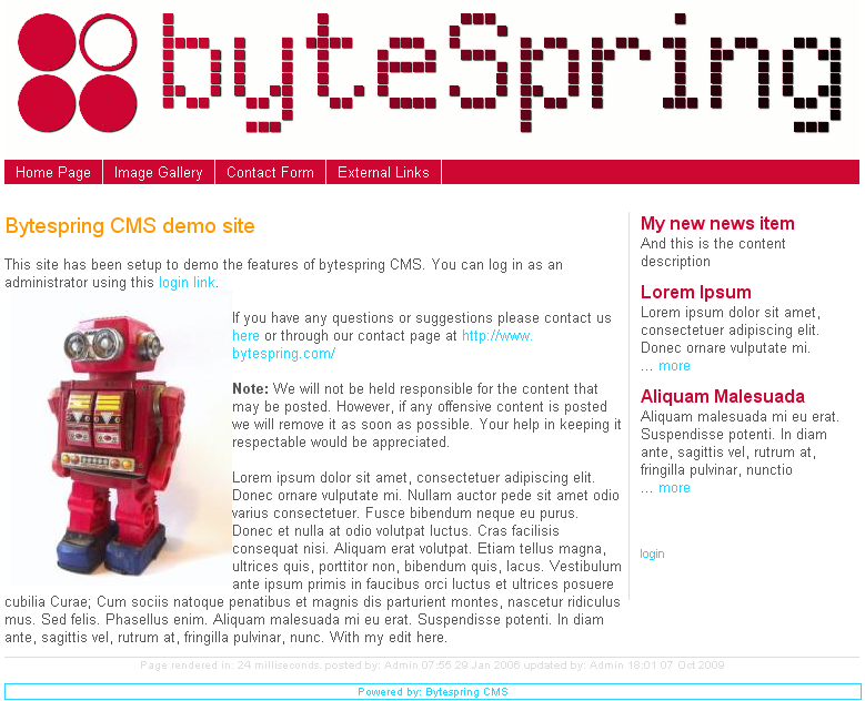 BytespringCMS screenshot 1