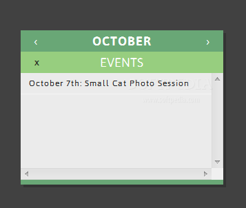 CLNDR - These calendars can hold details about upcoming events