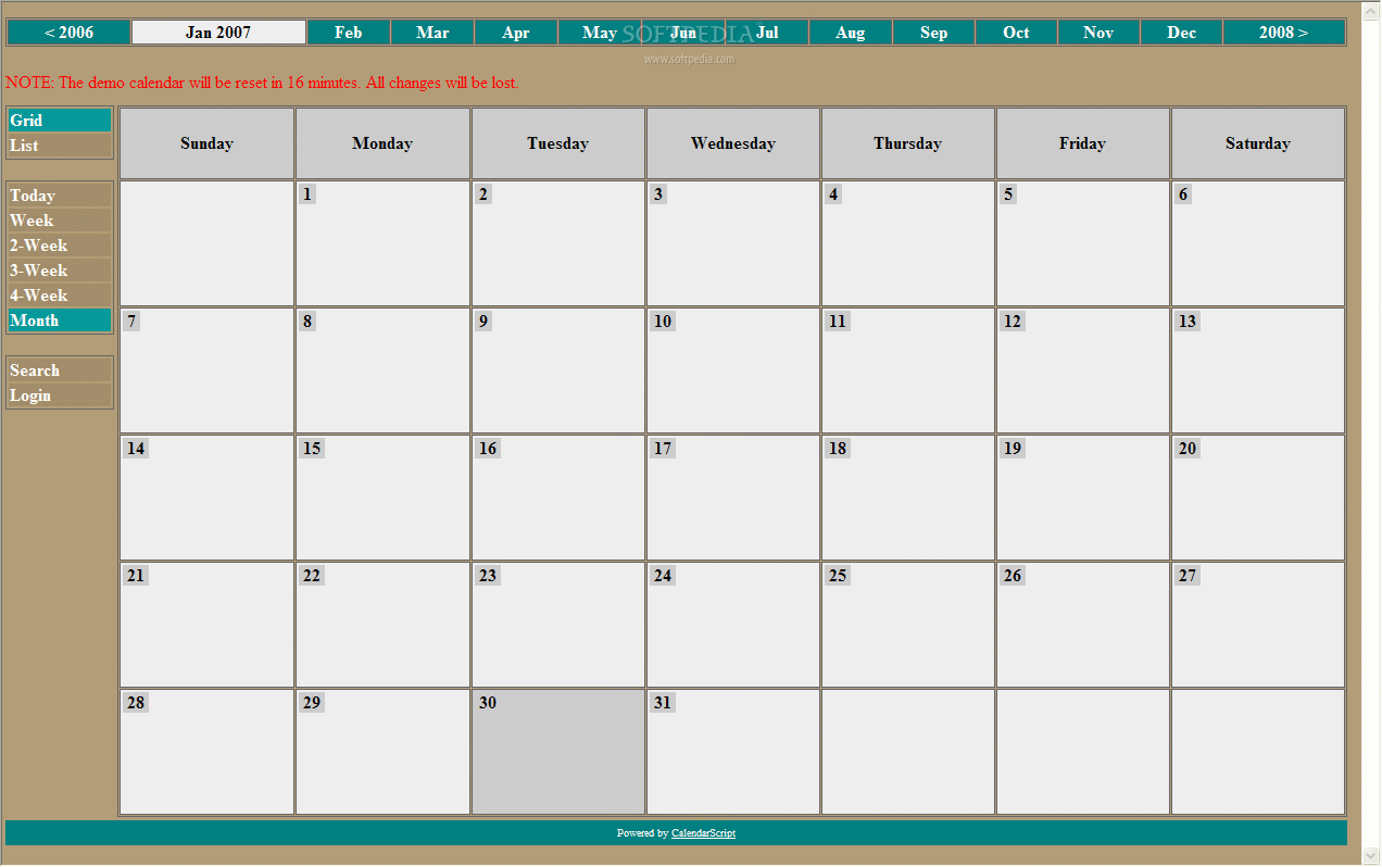 CalendarScript screenshot 1