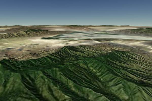 Cesium - Real life terrain mock-ups can be created with Cesium as well