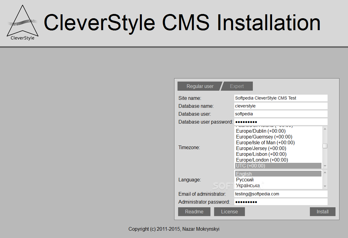 CleverStyle CMS - CleverStyle CMS comes with an easy to use installation package