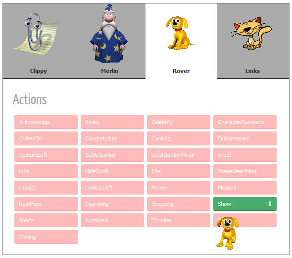 Clippy.js screenshot 3