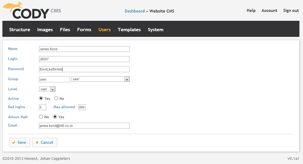 Cody CMS - This allows admins to customize user profiles however they want