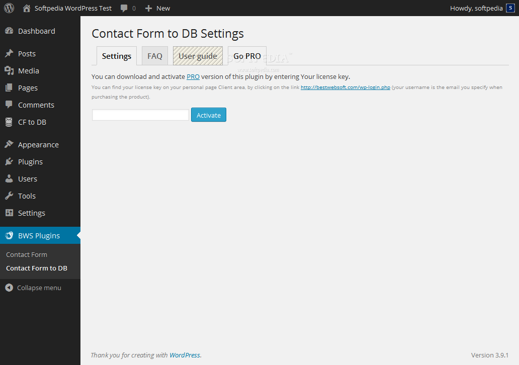 Contact Form To DB - A Pro version of the plugin is also available with extra features