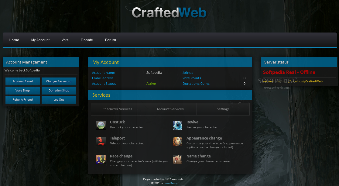 CraftedWeb Download