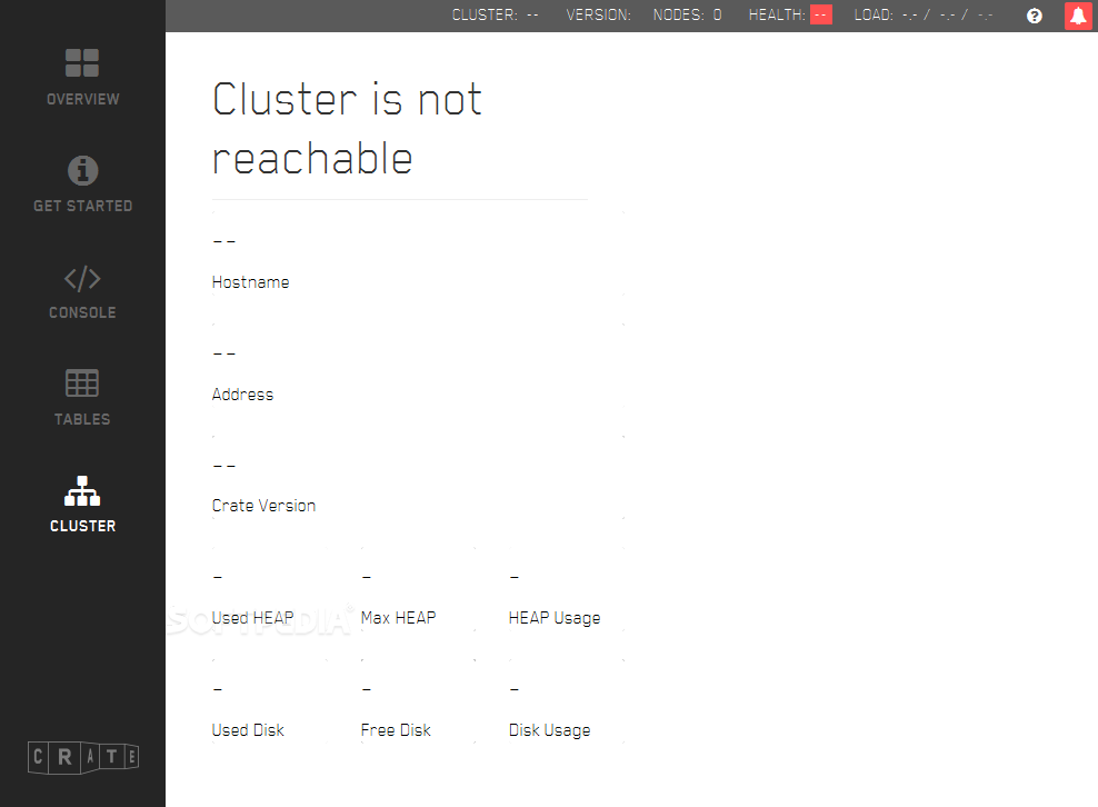 Crate - ... and also view details about Crate database clusters