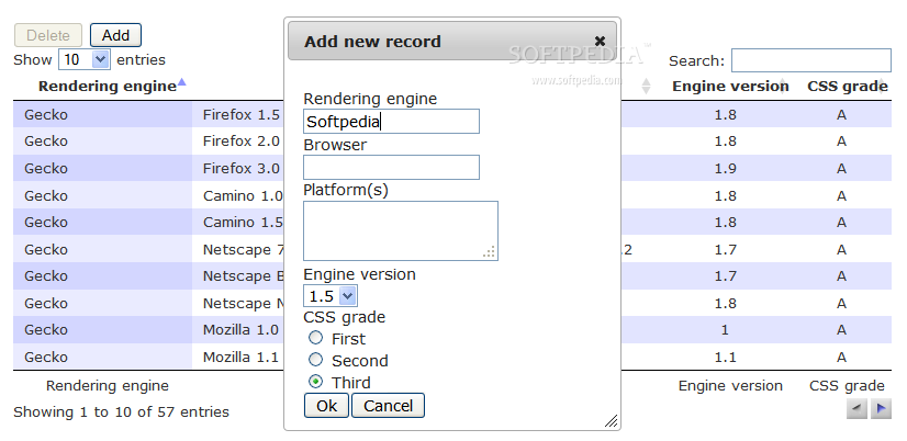 Datatables editable download for Html datatable