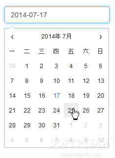 Datepicker - Fengyuan Chen's Datepicker component can also be translated into other languages as well