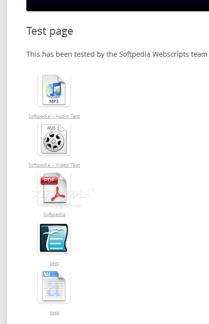 Document Gallery - Document Gallery allows webmasters to embed a list of various files, with icons as well