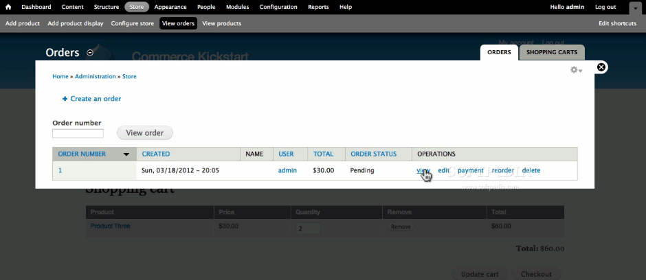 Drupal Commerce - Orders can be managed and edited with ease