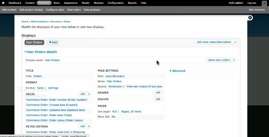 Drupal Commerce - Store frontend templates can be edited in the Drupal Commerce backend