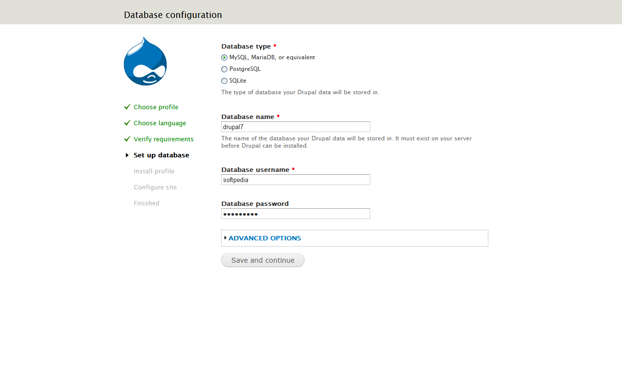 Drupal - Installation process