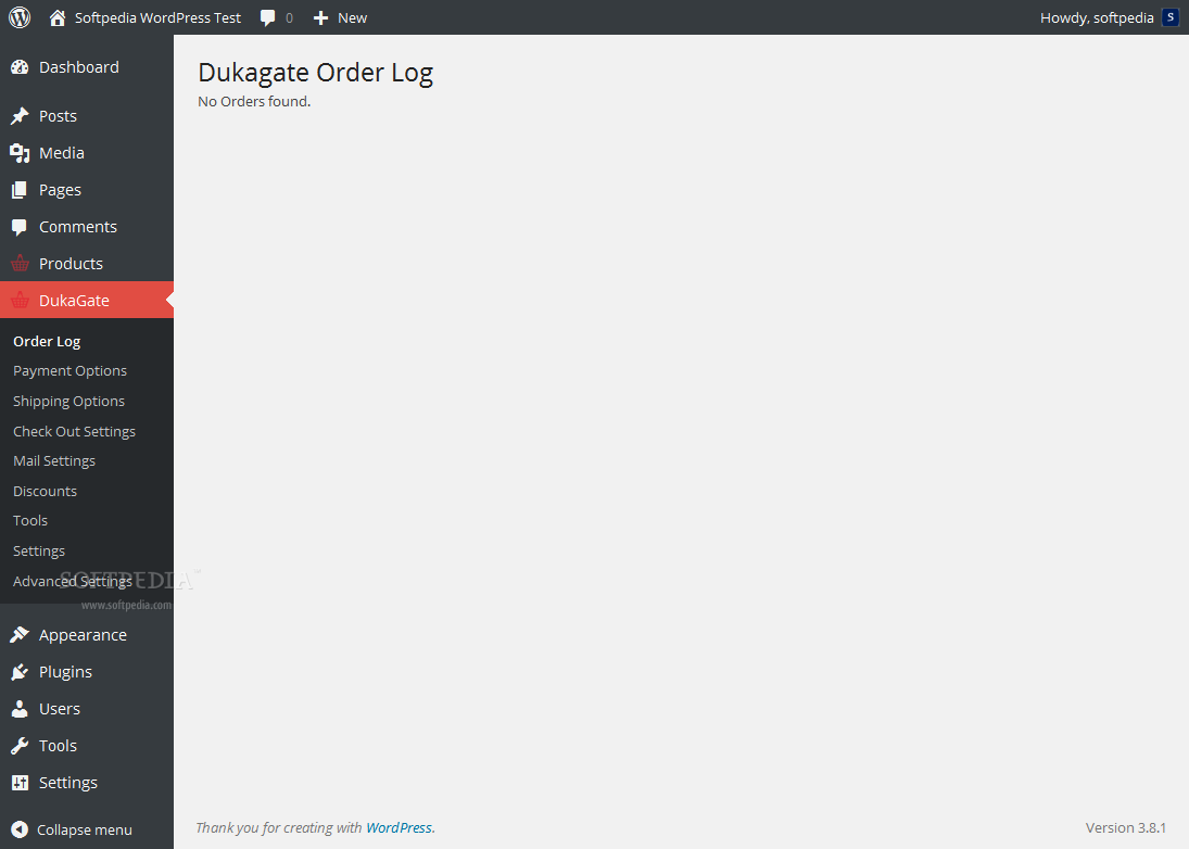Dukagate - All store orders are recorded in the WP backend