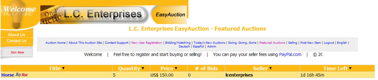EASYAUCTION screenshot 1
