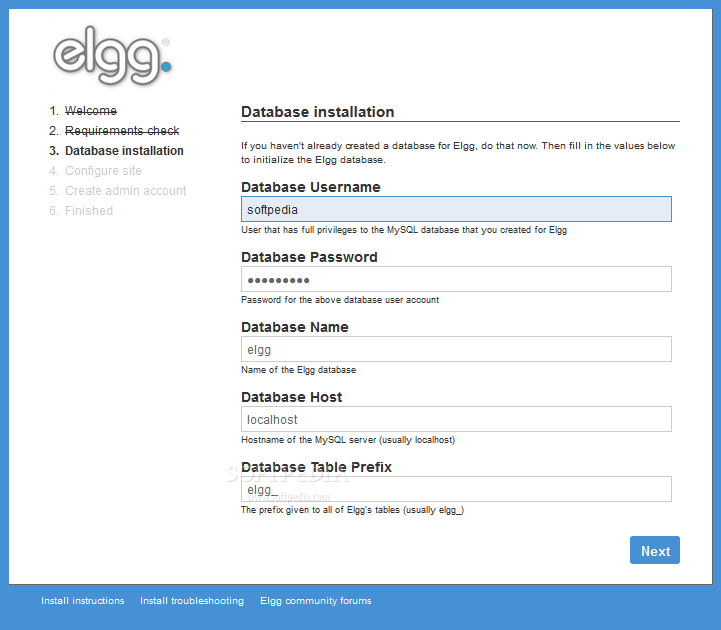 Elgg - Elgg comes with an easy to use installer