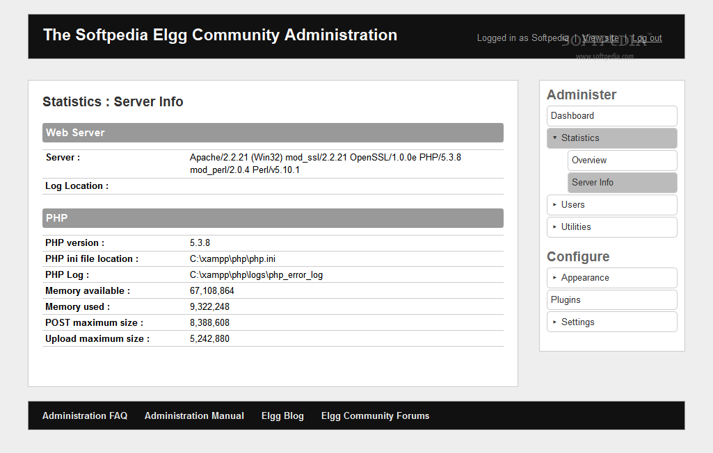 Elgg - Debug tools are packed with Elgg