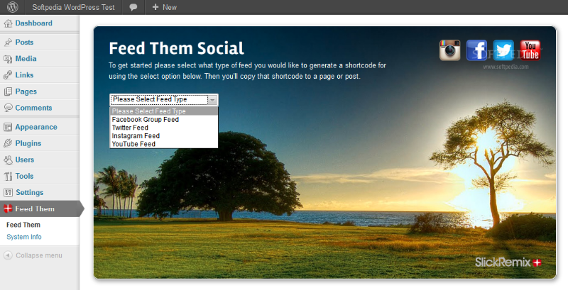 Feed Them Social - Feed Them Social allows automatic generation of a social feed via shortcode
