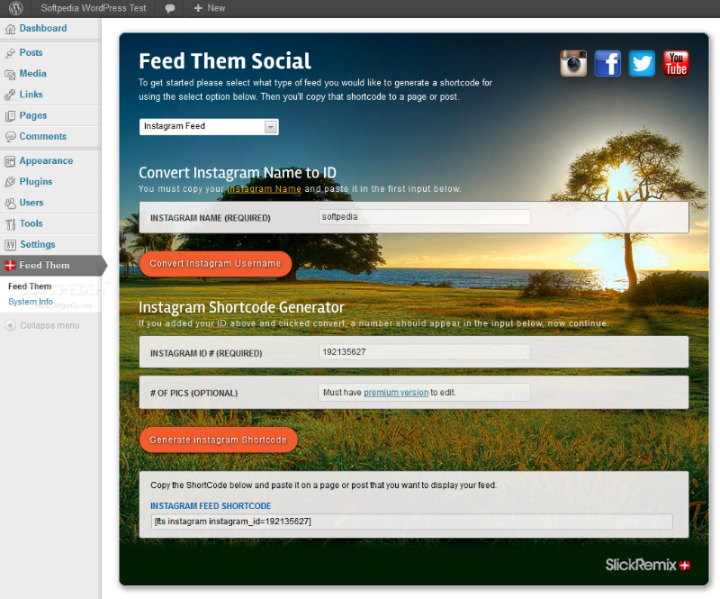 Feed Them Social - Feed Them Social can also be used to retrieve latest Instagram photos