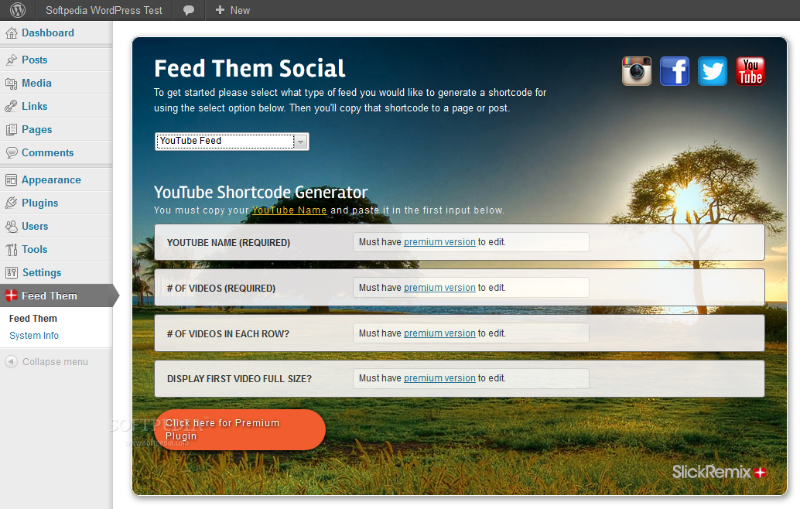 Feed Them Social - Feed Them Social can retrieve and embed a person's YouTube videos