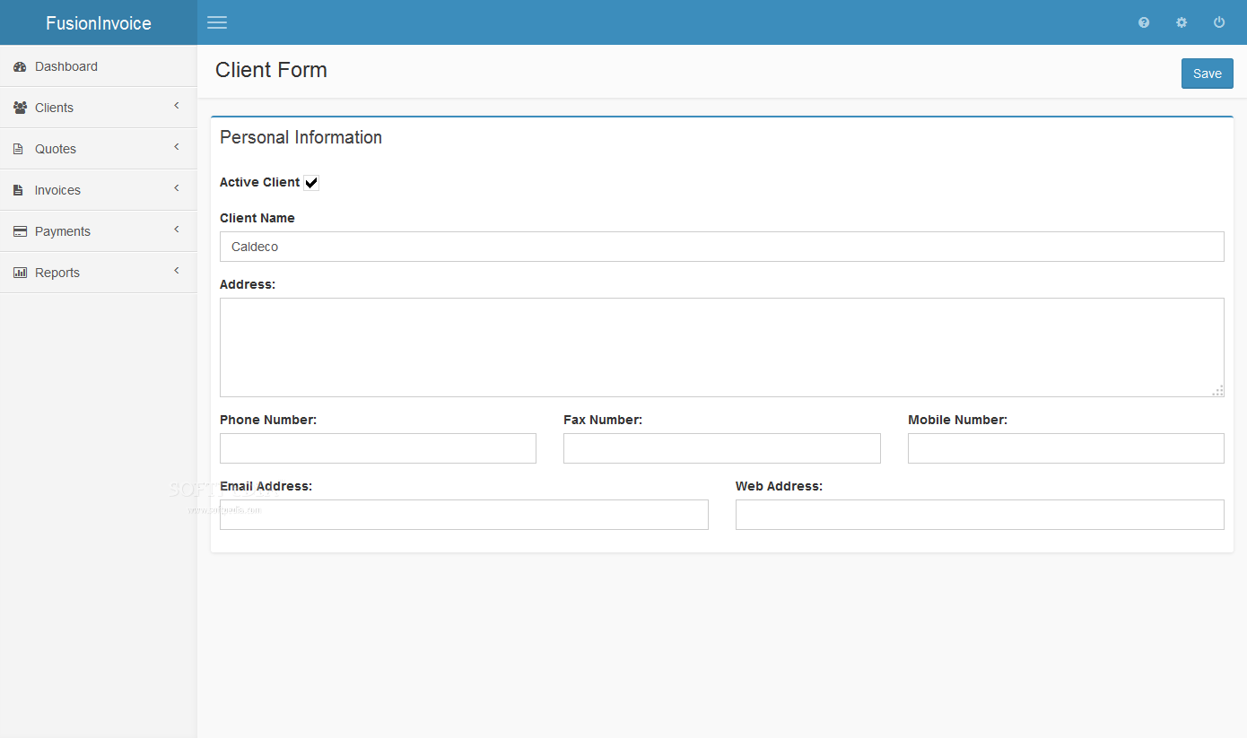 FusionInvoice - screenshot #4