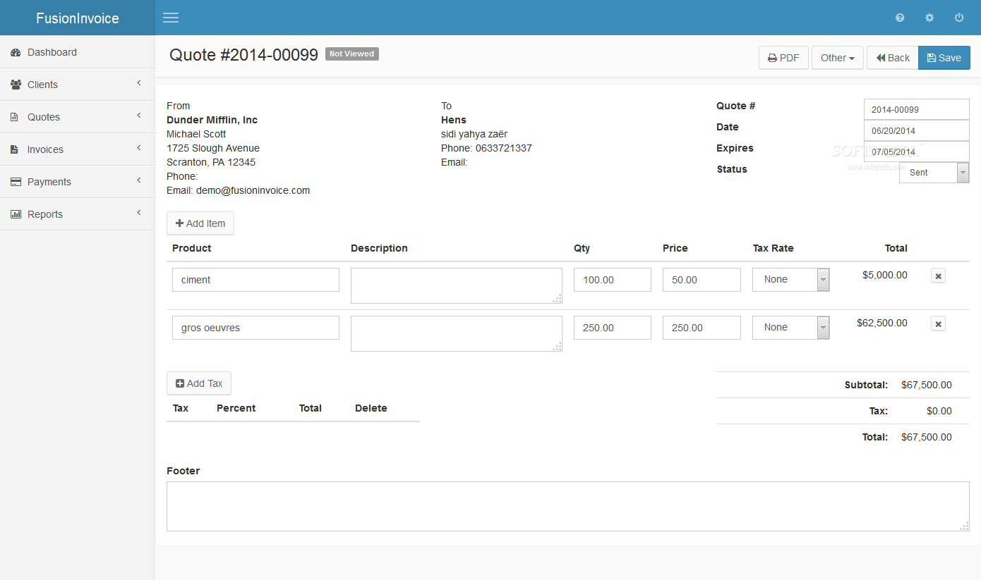 FusionInvoice - screenshot #7