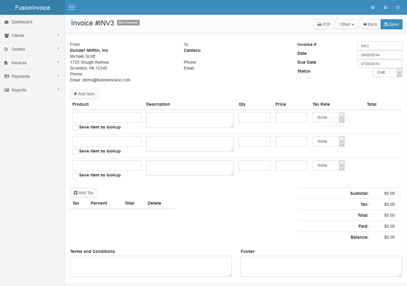 FusionInvoice - screenshot #9