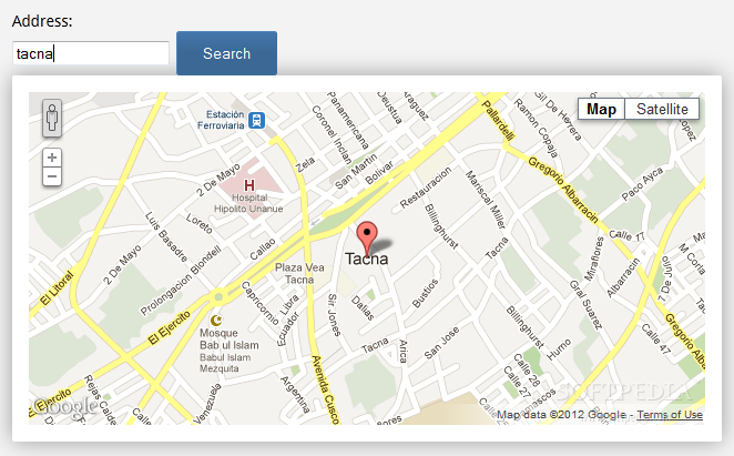 GMaps.js screenshot 2
