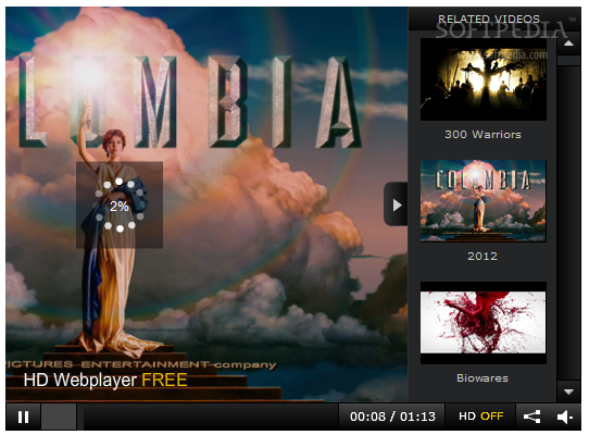 HD Webplayer Standalone screenshot 2